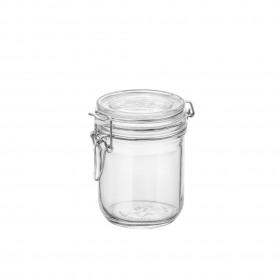 Borcan cilindric ermetic din sticla Bormioli Fido 0.5 L