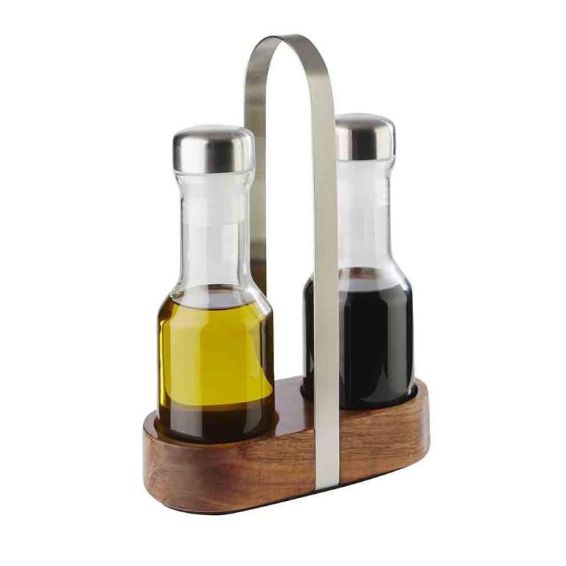 Set oliviera 2 piese cu suport lemn si inox APS
