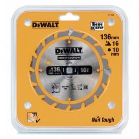 Disc DeWalt DT1946 136 x 10 mm pentru constructii 16 dinti