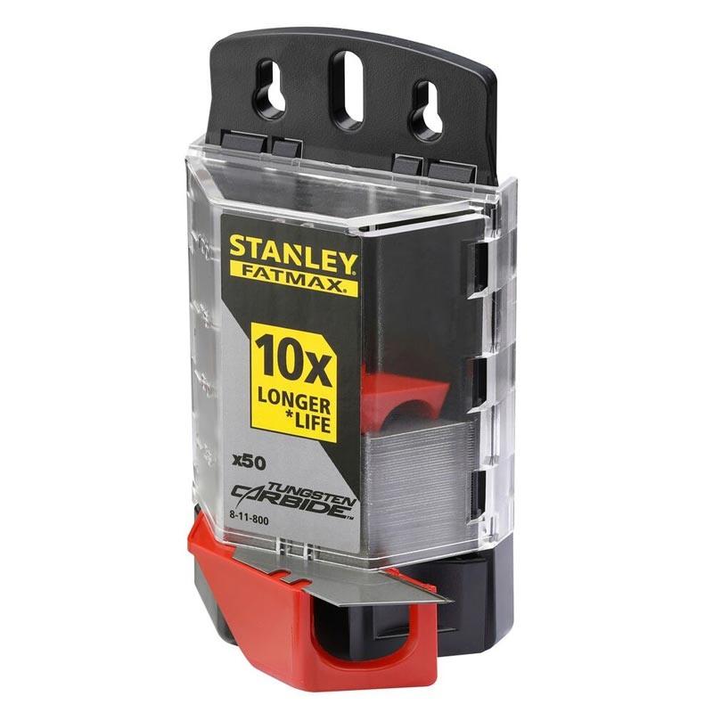 Lame trapezoidale Stanley 8-11-800 cu carbura tungsten 50 buc