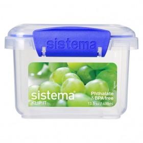 Cutie alimente din plastic dreptunghiulara cu capac Sistema KLIP IT 400 ml