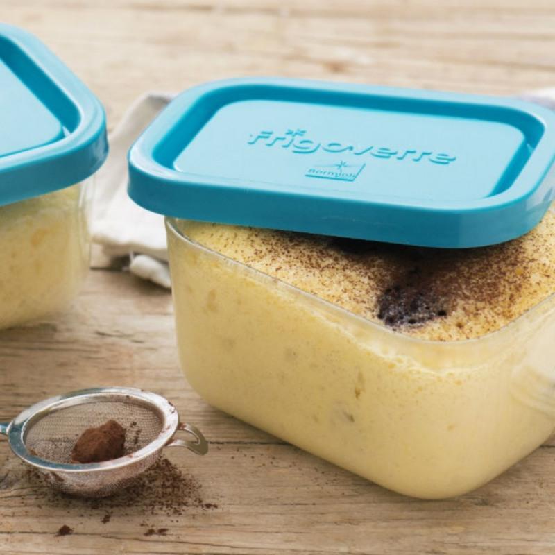 Cutie alimente dreptunghiulara Bormioli Frigoverre 13 x 10 cm 500 ml