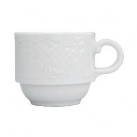 Ceasca ceai portelan suprapozabila Ionia Olympia 200 ml