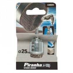 """Perie sarma """"oala"""" masina de gaurit Black+Decker 25mm - X36025"""