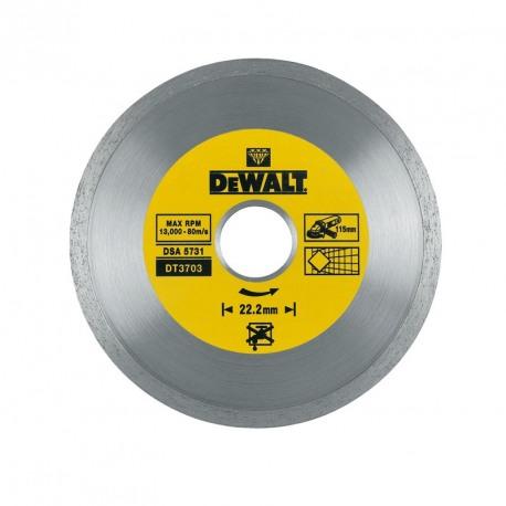 Disc diamantat continue Dewalt 115x22.2x1.6 mm - DT3703