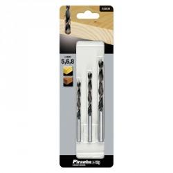 Set burghie pentru lemn Black+Decker 5 6 8 mm - X52038