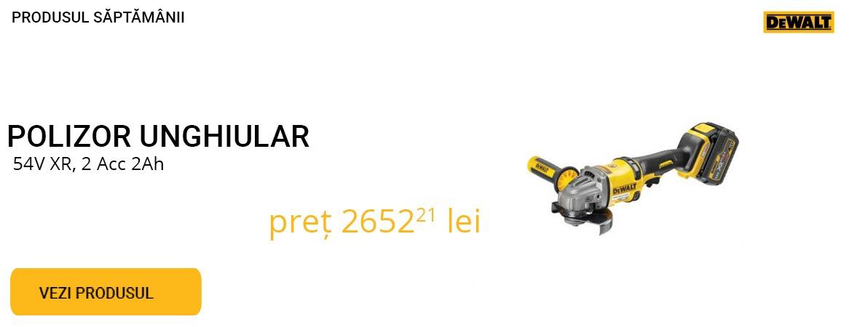 Produsul saptamanii - Polizor unghiular 54V  cu acumulatori - 9% REDUCERE