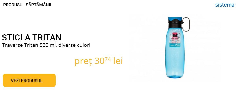 Produsul saptamanii - Sticla tritan 650ml  diverse culori -  10% REDUCERE